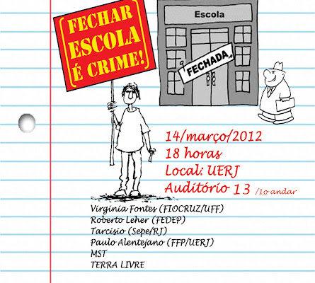Pesquisadores debatem o fechamento das escolas no campo na UERJ
