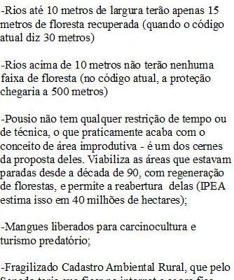 Dilma precisa vetar todas mudanças no Código Florestal