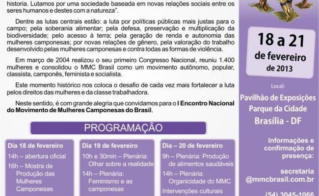 Movimento de Mulheres Camponesas realiza I Encontro Nacional
