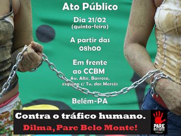 Movimentos sociais realizam ato contra Belo Monte em Belém do Pará