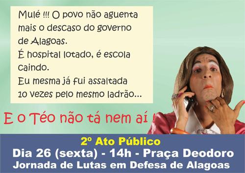 Jornada de lutas realiza ato nesta sexta contra governador de Alagoas