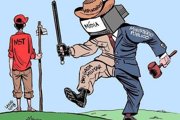 """""""Barões do campo estão de mãos dadas com os da imprensa"""", afirma jornalista"""