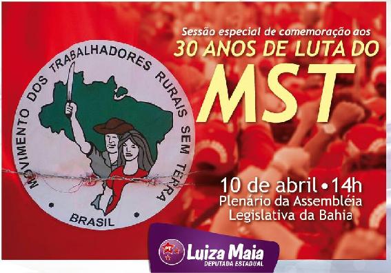 MST é homenageado na Bahia pelos 30 anos de luta pela Reforma Agrária
