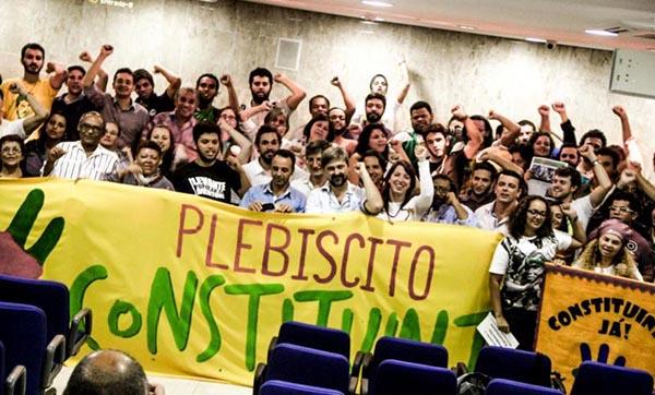 Na reta final, Plebiscito pela Constituinte realiza o Curso dos 1000