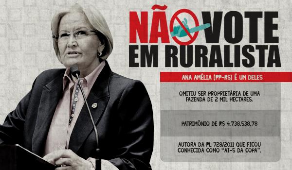 Ana Amélia, a candidata ruralista que tenta esconder seu estigma