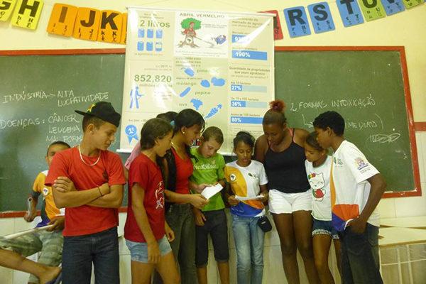 Oficina debate impacto dos agrotóxicos com educandos do Ensino Fundamental