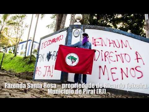 Balanço da ocupação na área do corrupto Ricardo Teixeira.