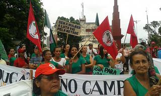 Camponesas ocupam o Palácio do governo de Rondônia