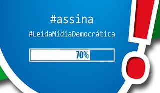 Eleitores poderão assinar Lei da Mídia Democrática na internet