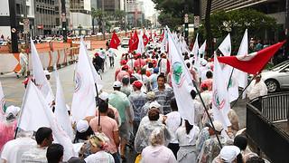 Camponeses fazem ato na Paulista e se preparam para esta sexta