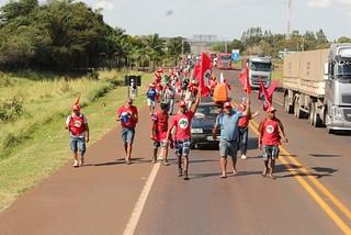 Mais de mil marchantes chegam à capital Campo Grande