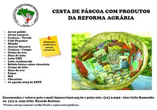 MST lança cesta de Páscoa com produtos da Reforma Agrária