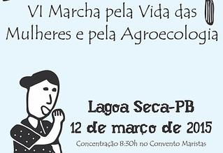 VI Marcha pela Vida das Mulheres e pela Agroecologia reunirá 5 mil em Lagoa Seca
