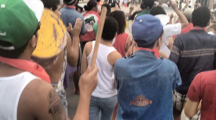 Durante encontro, juventude sai às ruas contra redução da maioridade penal