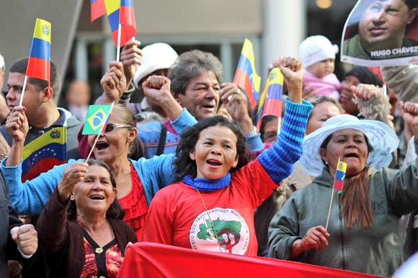 Movimentos realizam ato em solidariedade ao povo venezuelano