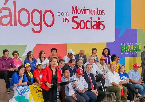 Em ato com Dilma movimentos cobram avanços para a classe trabalhadora