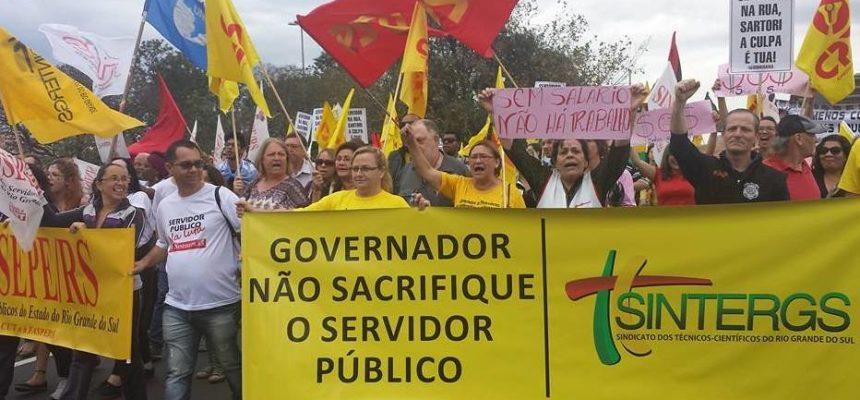 Via Campesina participa de mobilização dos servidores públicos no RS
