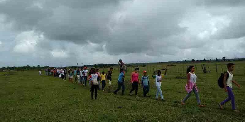 Estudantes realizam caminhada agroecológica em Assentamento no sul da Bahia