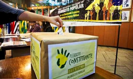 Encontro nacional marca um ano da campanha pelo Plebiscito Constituinte
