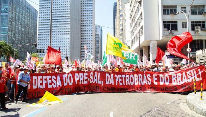 Primeiro ato da Frente Brasil Popular pelo país defende a Petrobras e a democracia