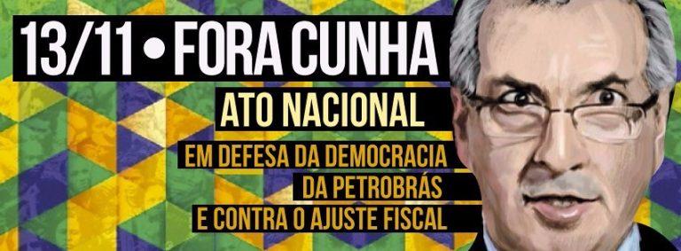 Frente Brasil Popular sai às ruas em defesa da Petrobras e contra Cunha