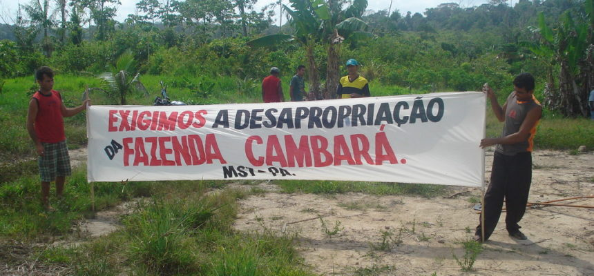 Seguranças armados rondam acampamento do MST no Pará