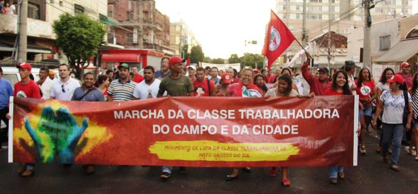 Sem Terra de MS participam de ato unitário contra o impeachment e o ajuste fiscal