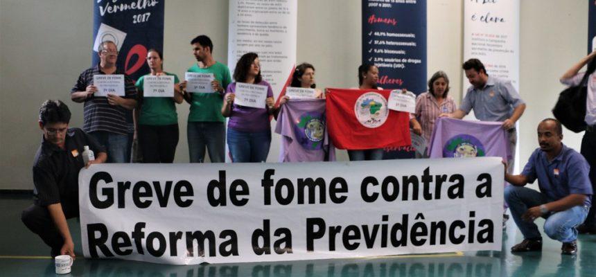 Dez trabalhadores darão início ao jejum contra a reforma da previdência no RS