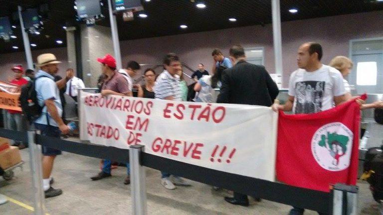 Sem Terra apoiam luta dos aeronautas e aeroviários no Ceará
