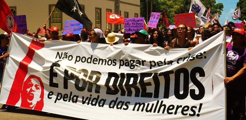 No Sergipe, mulheres do campo e da cidade defendem direitos sociais em ato unificado