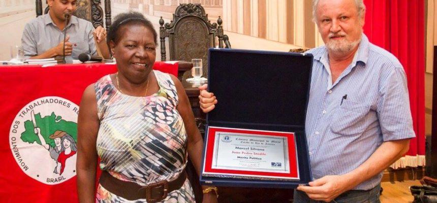 Stédile recebe homenagem da Câmara Municipal de Macaé