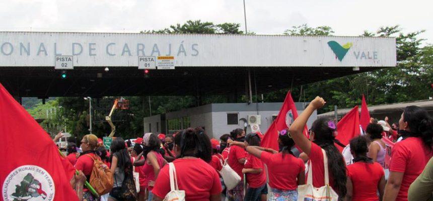 MST repudia violência da PM contra mulheres em frente a Vale de Parauapebas