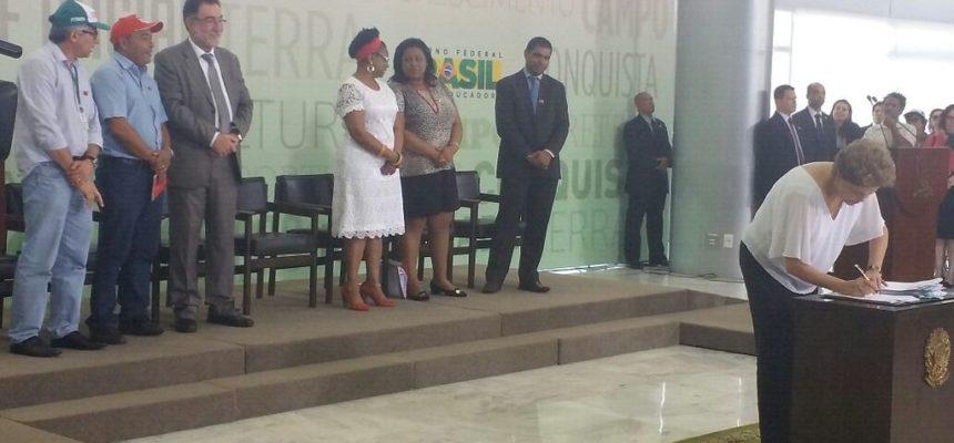 Governo Dilma destina 35,5 mil hectares de terras para a Reforma Agrária
