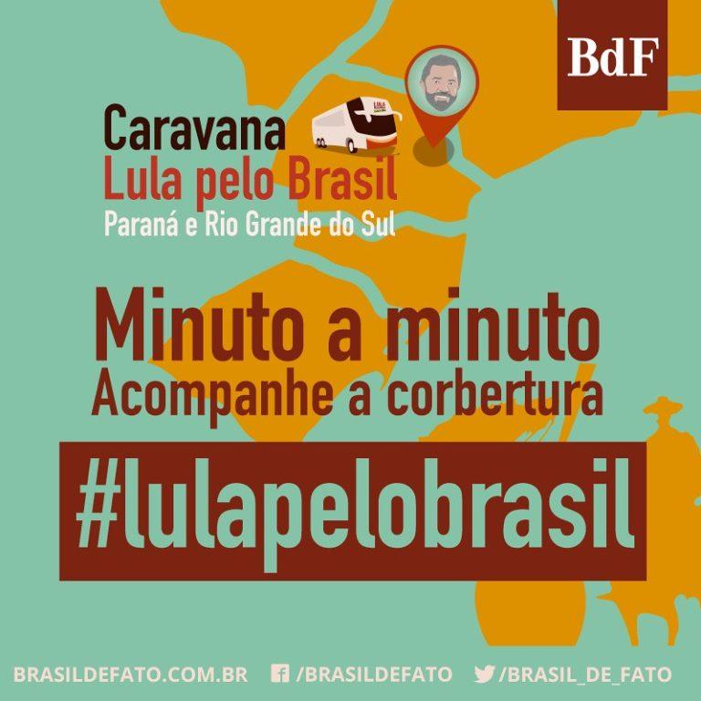 Acompanhe em tempo real a caravana Lula pelo Sul
