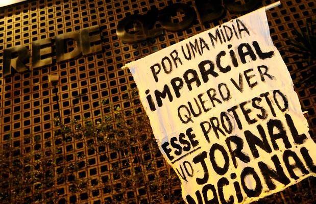 Em Salvador, movimentos e organizações populares realizam ato contra Globo