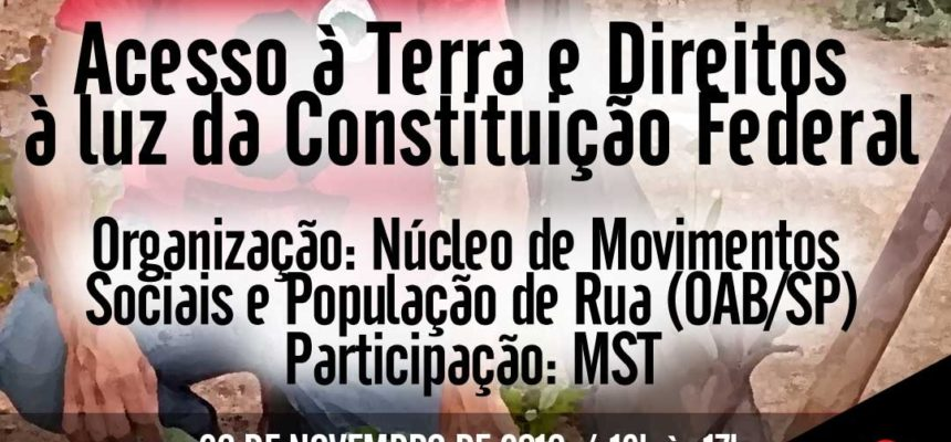 Seminário sobre o acampamento Marielle Vive! é suspenso por boicote de vereadores