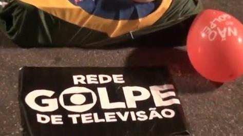 """Atos """"contra o golpismo midiático"""" escracham Rede Globo e filiadas em todo o país"""