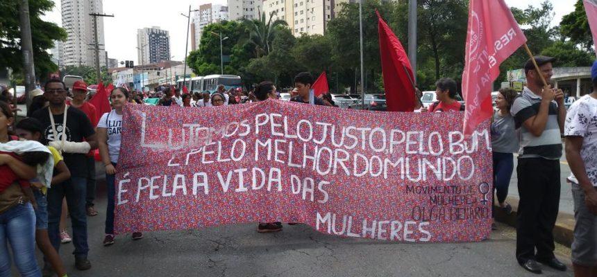 Em Goiás, marcha e ocupação da Alego marcam as mobilizações deste 8 de março