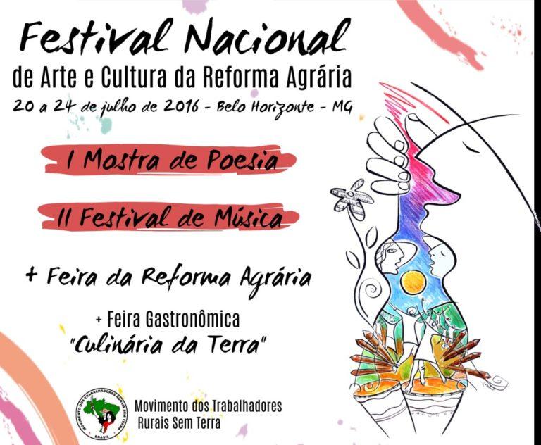 Estão abertas as inscrições do Festival de Música e da Mostra de Poesia da Reforma Agrária