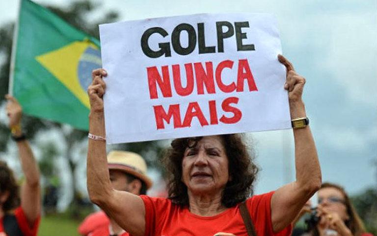 Nota: Enfrentar o golpe! Derrubar o governo ilegítimo!