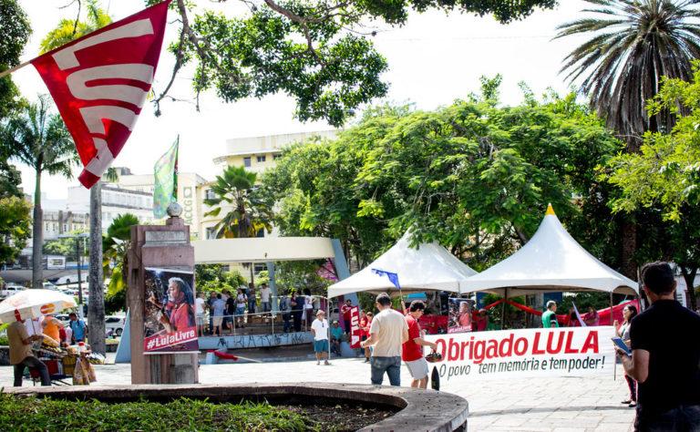 representantes de movimentos populares se reúnem para o lançamento da candidatura de Lula à presidência