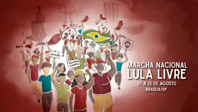 """""""Serão seis dias de caminhada para retomar o Brasil e para exigir Lula Livre!"""""""