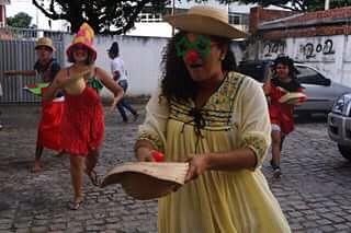 Em Natal, juventude de organizações populares realizam intervenções artísticas