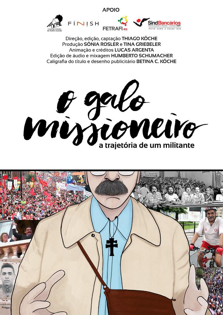 Poster Filme - O Galo Missioneiro - a trajetória de um militante.jpg