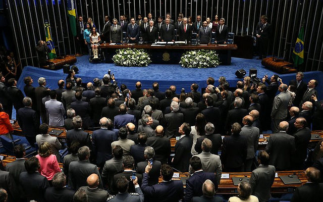 Após impeachment e posse, senadores aprovam MP do setor agrícola