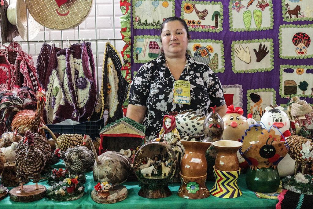 Artesanatos também serão levados este ano pelas mulheres do MST. Foto Catiana de Medeiros.jpg