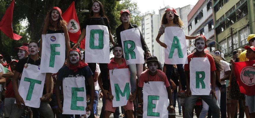 Em Salvador, trabalhadores saem às ruas contra o golpe e a retirada de direitos