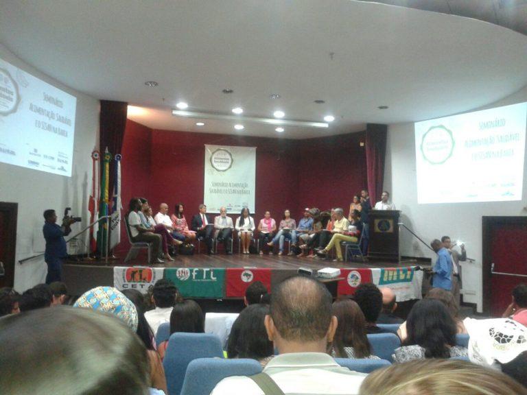 Seminário de Alimentação Saudável debate agroecologia na Bahia