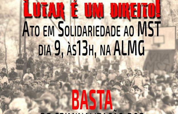 Assembleia Legislativa de Minas Gerais realiza ato político em solidariedade ao MST