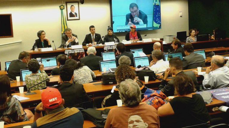 Audiência destaca o entrecruzamento entre violência e criminalização de movimentos